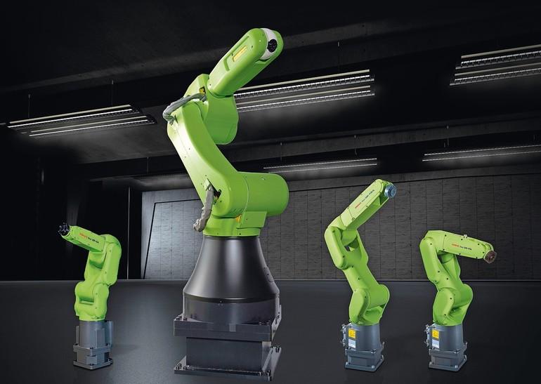 Für Traglasten von 4 bis 35 kg: Fanucs CR-Reihe. Unter der grünen Haut stecken Standard-Industrieroboter.