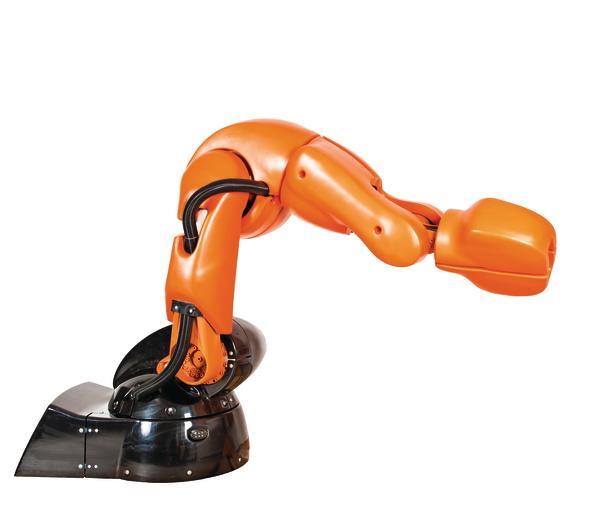 Kapazitive Schutzhülle für Kuka-Standard-Industrieroboter: KR 5 SI (SafeInteraction) von MRK Systeme.