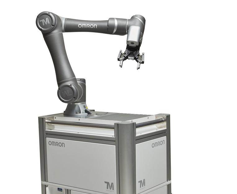 Gibt es auch als mobil-kompatible Version: Die TM-Cobots von Omron gibt es mit 4, 12 oder 14 kg Traglast.