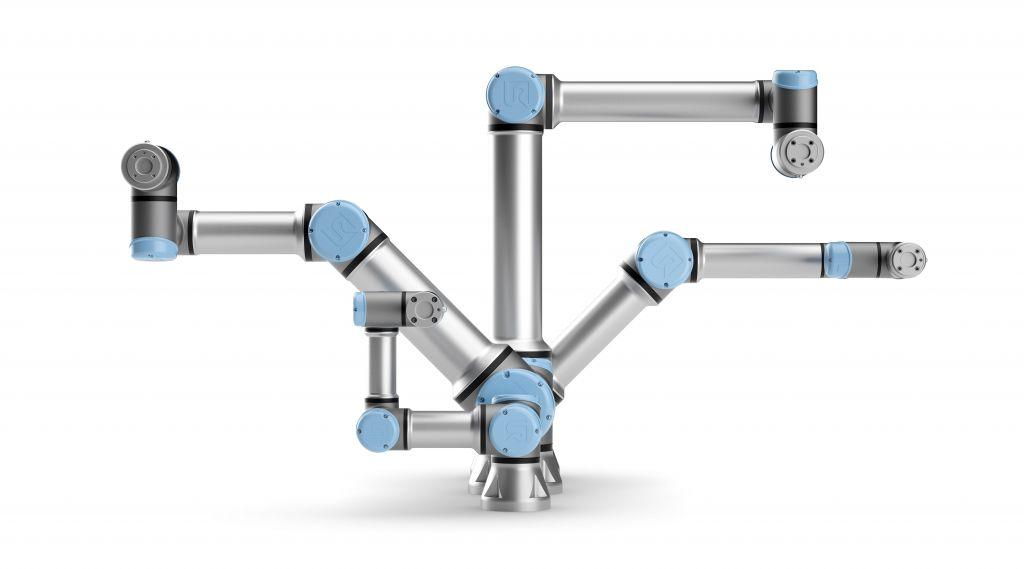Vom 3-kg- bis zum 16-kg-Cobot: Die e-Series von Universal Robots.