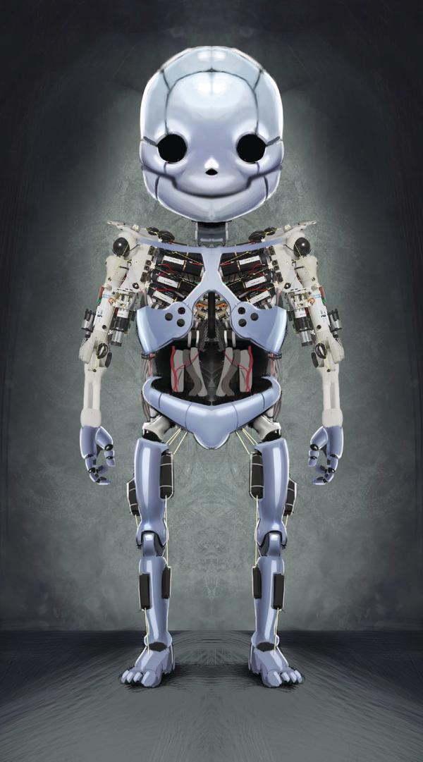 Anatomie und Bewegungscharakteristik sind dem Menschen nachempfunden ...