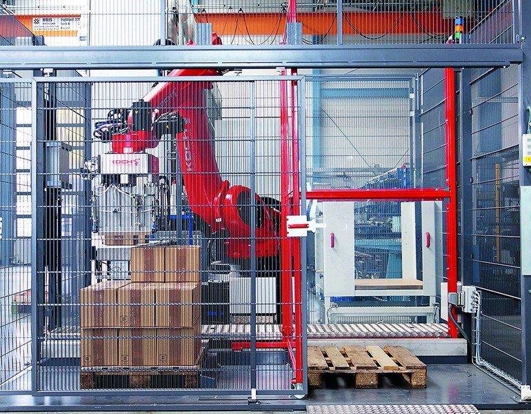 Palletsystem 1250 von koch f r pausenloses palettieren for Koch roboter
