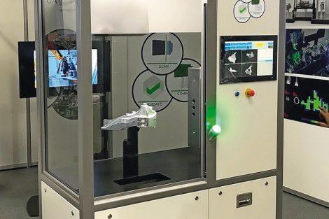 3D-Vision führt Roboter und kontrolliert Teile