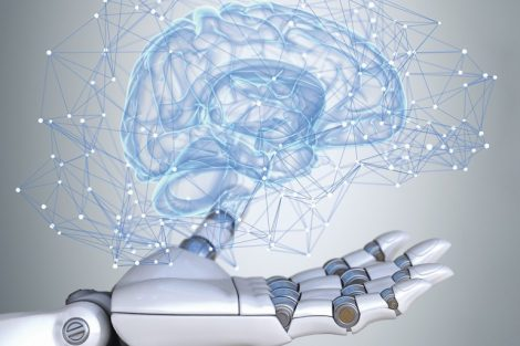 Robot_hand_holding_virtual_brain_scheme
