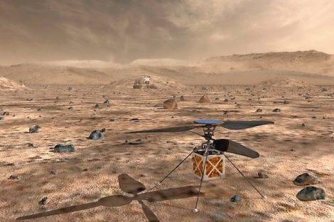 Kleine Motoren auf großer Mars-Mission