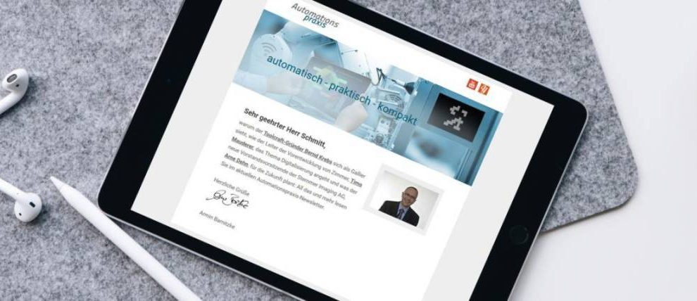 Newsletter Automationspraxis